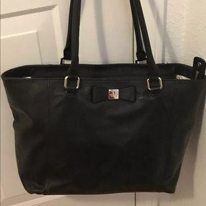 Kate Spade Renny Drive Black Leather Tote Bag